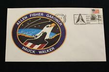 SPACE COVER 1984 SLOGAN CANCEL STS-51-A SHUTTLE DISCOVERY 1ST RETRIEVAL SAT (21)