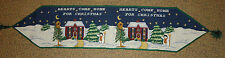 """TAPESTRY Winter SNOWMAN CHRISTMAS 55"""" Table Runner"""