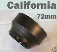 72mm 3 Stage Collapsible Rubber Lens Hood Canon Nikon Sony Sigma Pentax Camera