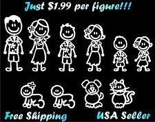 Hawaiin Family Stick Figure Decal Car Window Sticker  $1.99/ Figure custom
