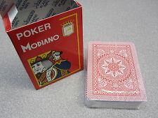 Modiano Italy Playing Cards Poker Game Deck 100% Plastic Casino LARGE INDEX RED