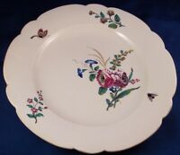 Antique 18thC Chantilly Porcelain Floral Softpaste Plate Porzellan Teller French