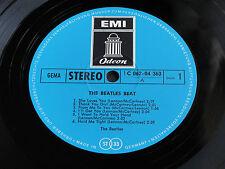 "THE BEATLES "" The Beatles Beat"" BLUE LABEL GERMAN ODEON British Invasion LP. EX+"