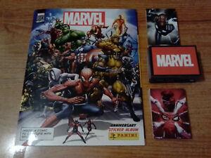 Panini Marvel 80 Years Anniversary Near Complete 185 Sticker & 42 Cards IN ALBUM