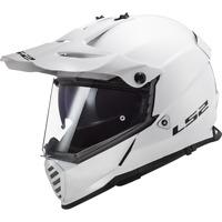 LS2 MX436 PIONEER EVO OFF ROAD DUAL SPORT MOTORCYCLE DUAL VISOR HELMET WHITE