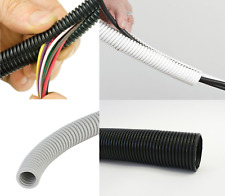 NEW Polypropylene flex conduit electrical cable tidy split / unsplit white black