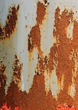 A4 Size Rusty painted metal rust Vinyl Sticker Bombing Sheet JDM Ratlook UK Made