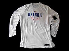 Nike men's NBA Team Issued Detroit Pistons Long Sleeve Shirt size 4XLT