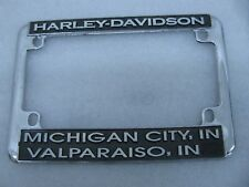 Michigan City Valparaiso Harley Davidson License Plate Mount Frame Knucklehead