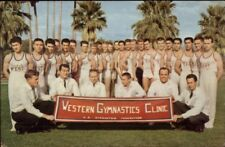 Tucson AZ Western Gymnastics Conference Young Men in Uniforms Postcard