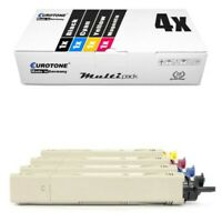 4x Eurotone Eco Cartridge For Oki C-3300-N C-3400-N C-3450-N C-3600-N