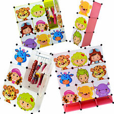 NEW Childrens Wardrobe Kids Storage Boxes Character Design Cubes or Shoe Storage