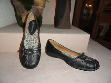 Blk Faux leather Mary Jane Flats w/front cross adjust strap. Xhilaration. Sz 3