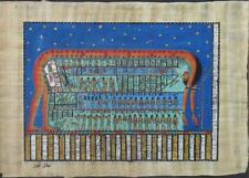 NEW HAND PAINTED EGYPTIAN ART ON PAPYRUS: Birth of World A97