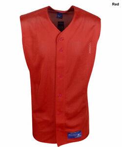 New Mizuno Youth Boy's Size- Medium Red Sleeveless Mesh Baseball Jersey