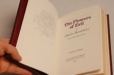 CHARLES BAUDELAIRE THE FLOWERS OF EVIL FRANKLIN LIBRARY FULL LEATHER MINTY