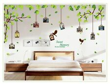 Art Vinyl Quote DIY Memory Tree Wall Sticker Decal Mural Home Room Dec