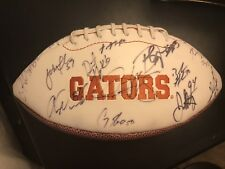 2008 National Championship Florida Gator team signed football Tebow, Meyer...