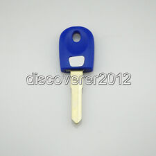 1 Blue Blank Key Uncut for Ducati Monster Super Sport Touring Motorcycles