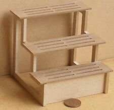 1:12 Scale Flat Pack MDF Shop Display Shelves Dolls House Miniature Garden Small