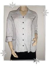 Magnífico Blusa De Fantasía Negro Blanco Modelo Ben Lewinger Talla 42