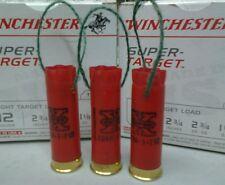Set of 3 Handmade Shotgun Shell Christmas Ornaments - multiple colors available