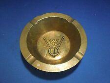 Vintage WYO Brass Ashtray Heavy Duty Decorative Ash Tray Tobacciana