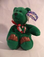 Christmas Holiday Plush Bear Green Candy Cane Limited Treasure Numbered Box 1998