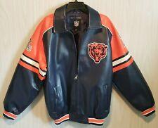 Men's Faux Leather Coat Chicago Bears Jacket Men's M APPAREL LOGO G-III