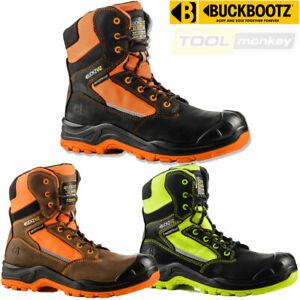 Buckler Safety Work Boots - Waterproof - Hi Vis - BUCKZVIZ High Leg - Side Zip