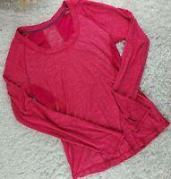 Zella hot pink lightweight athletic shirt SIZE S raglan long sleeve (U)