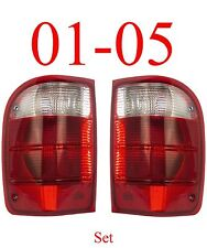 01 05 Ranger Tail Light Set, Ford, Complete Assembly, 2WD, 4WD, Both Sides!