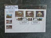 1999 ISRAEL PAINTINS OF CHRISTIAN SITES SET 3 STAMPS W/- TAB FIRST DAY COVER