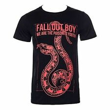 Official T Shirt Fall out Boy Black Snake Logo Print Band Tee All Sizes