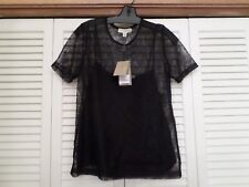 NWT BURBERRY LONDON BLACK LACE / CAMI TOP FROM NEIMAN MARCUS - SIZE 8 - $795.00