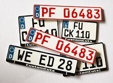 Scale Kennzeichen aus Kunststoff 1:10 Drifter Crawler Scaler keine Folie Sticker