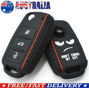 3 Buttons Silicone Flip Key Fob Cover Case For VOLKSWAGEN GOLF JETTA PASSAT POLO