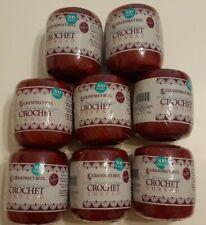 Grandma's Best Crochet Thread * Lot of 8 Burgundy Softer Feel New Sealed