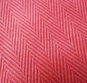 7.6M HERRINGBONE Flatweave Deep Red Burgundy Upholstery Cushion Fabric Material