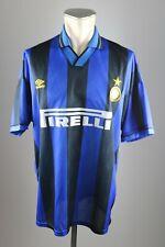 Inter Mailand Trikot Gr. XL 1995-1996 Umbro Pirelli Jersey Maillot Milan 90s