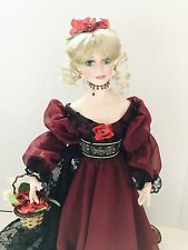 "18"" Paradise Galleries ""Rosalind"" Porcelain Doll ""Floral Fantasy"" Box/Coa"