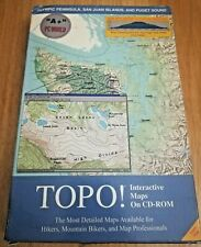TOPO! Pacific Northwest Olympic Peninsula Puget Sound Seattle Data Maps WIN PC