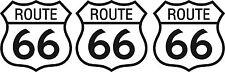 3x Mini PREMIUM Autoaufkleber Route 66 USA Sticker Aufkleber Auto Motorrad Bike