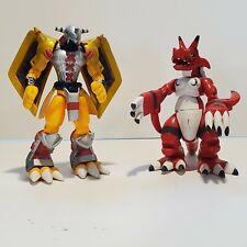 "5"" - 6"" WARGREYMON & GROWLMON * Digimon Bandai Figures Fox Kids * poseable VHTF"