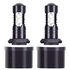 2x H16 2504 5201 5202 100W 6000K Xenon White CREE Chip LED Fog Light Bulbs