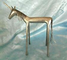 Vintage Steel Modern Art Mythological Unicorn figurine statue