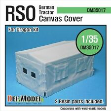 RSO Tractor Canvers Cover (for Dragon 1/35) resin upgrade set