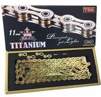 YBN SLA 211-Ti Titanium 11 Speed Bike Chain in box for SHIMANO SRAM CAMPAGNOLO