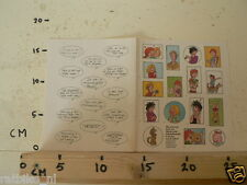 STICKER,DECAL JAN JANS EN DE KINDEREN SHEET WITH STICKERS AND TEXT BALLON