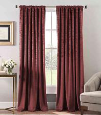 Stockton Velvet 84-Inch Rod Pocket/Back Tab Window Curtain Panel in Wine